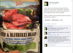 Sunday Pets Freeze Dried NZ beef and blueberry